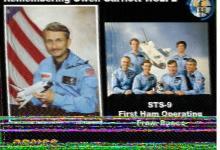 今晚第一次收到了国际空间站发来的SSTV(慢扫描电视)图像-济南黄河业余无线电439.110
