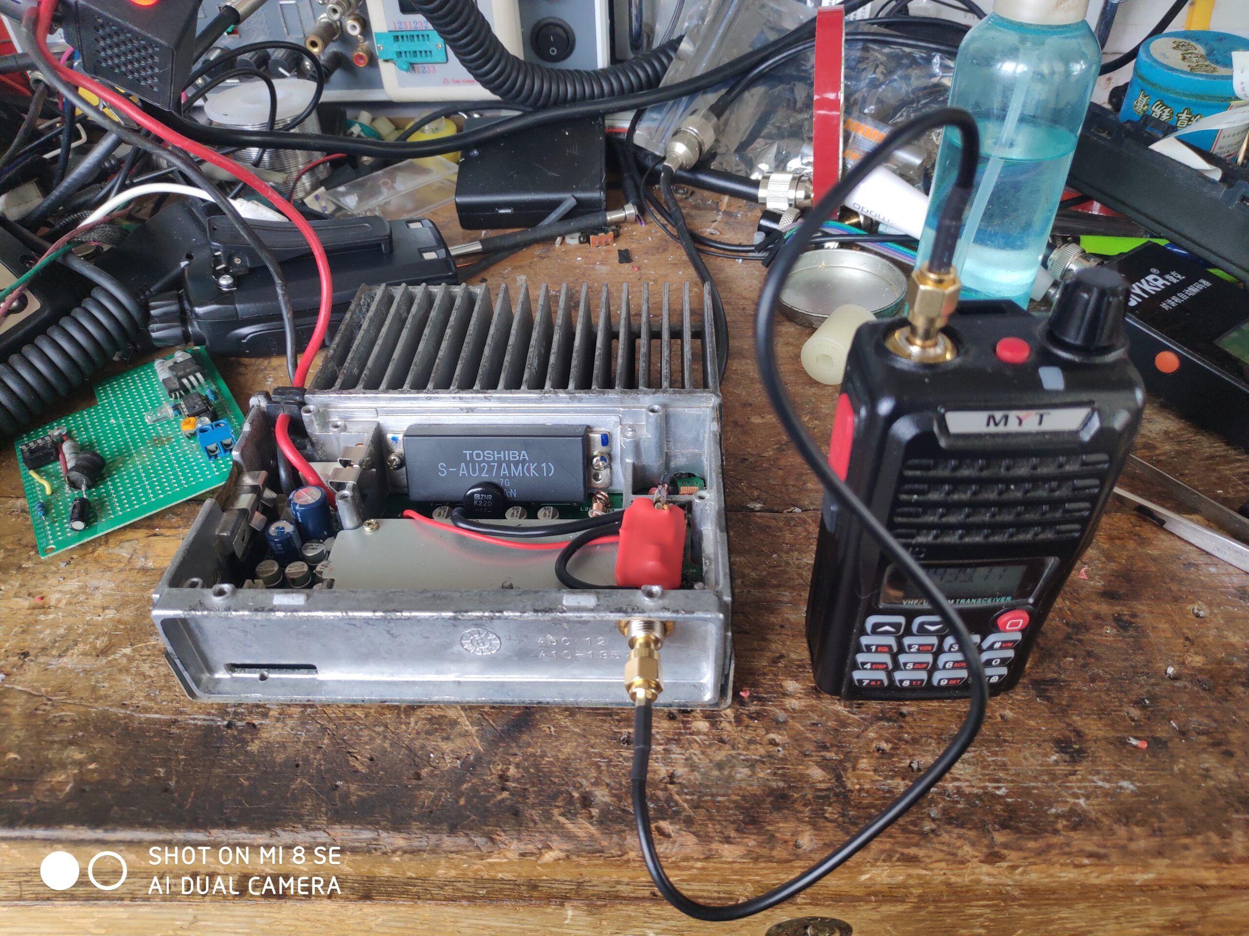 用建伍TK868车台改装手台功率放大器-济南黄河业余无线电439.110