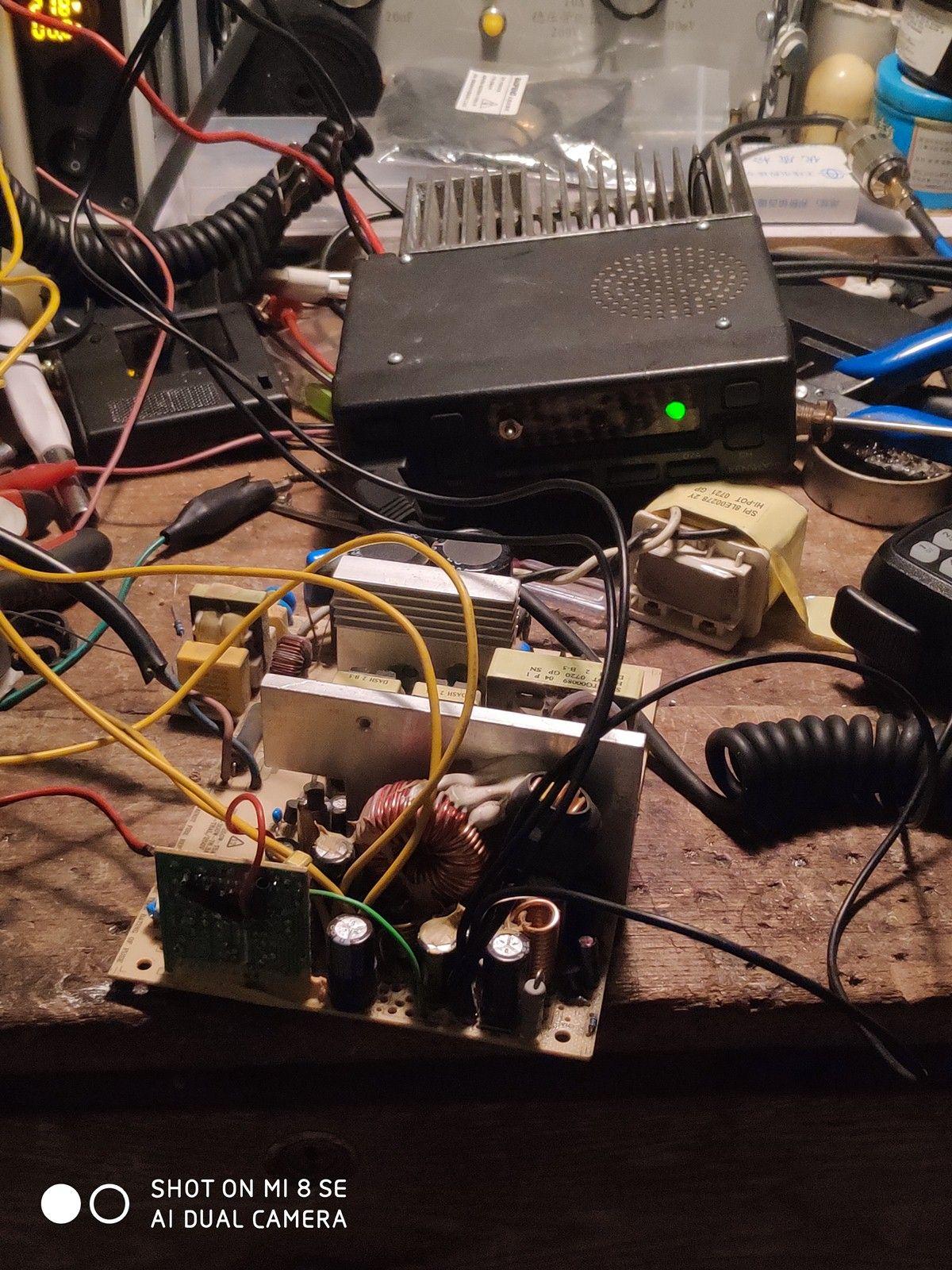 改台式机电源电压输出为13.8V用于车台供电BG4IRQ 1210-济南黄河业余无线电439.110